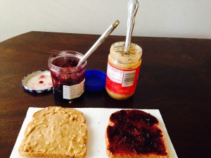 Put your jelly on the other slice of bread