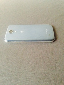 back side view of the phone with no cheese