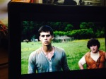 I'm also watching The Maze Runner on the iPad.