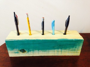 I was going to paint my pencil holder, but then I decided not to.