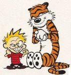 The mischievous Calvin sneer